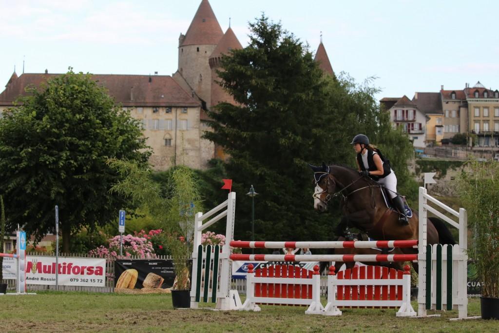Concours saut Estavayer - Alex, Delphine et Pauline - 20.06.2015